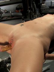 Fuck machine. Amateur girl has full body - Unique Bondage - Pic 5