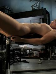 Fuck machine. Amateur girl has full body - Unique Bondage - Pic 6