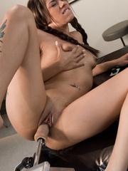 Sexmachines. Latin babe has multiple pussy - Unique Bondage - Pic 14