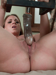 Fucking machine porn. Young hot blonde gets - Unique Bondage - Pic 2
