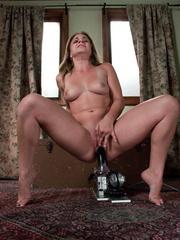 Fucking machine porn. Young hot blonde gets - Unique Bondage - Pic 11