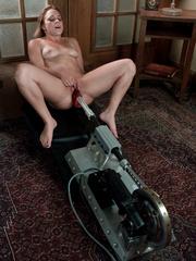 Fucking machine porn. Young hot blonde gets - Unique Bondage - Pic 13