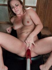 Fucking machine porn. Young hot blonde gets - Unique Bondage - Pic 14