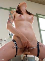 Fucking machines sex. Girl gets kinky gyno - Unique Bondage - Pic 12
