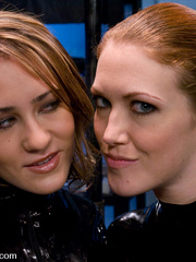 Machine fucking. Red head and Blonde girls - Unique Bondage - Pic 3