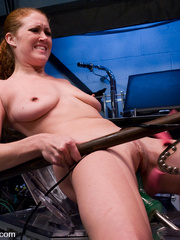 Machine fucking. Red head and Blonde girls - Unique Bondage - Pic 11