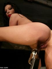 Fucking machines sex. Foxy Roxy DeVille is - Unique Bondage - Pic 9