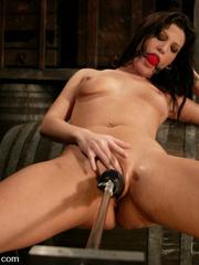 Fucking machines sex. Foxy Roxy DeVille is - Unique Bondage - Pic 12