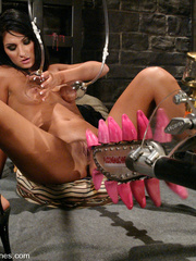 Xxx fucking machines. Shy and sexy brunette - Unique Bondage - Pic 2