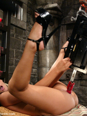 Xxx fucking machines. Shy and sexy brunette - Unique Bondage - Pic 7