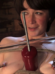 Girls on sex machines. Brand new girl, bound - Unique Bondage - Pic 3