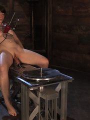 Girls on sex machines. Brand new girl, bound - Unique Bondage - Pic 9