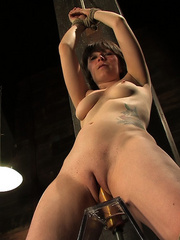 Girls on sex machines. Brand new girl, bound - Unique Bondage - Pic 10