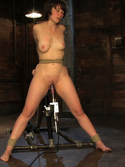 Girls on sex machines. Brand new girl, bound - Unique Bondage - Pic 11