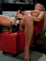 Sex machine sex. Blonde hottie never before - Unique Bondage - Pic 12