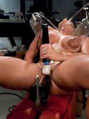 Sex machine sex. Blonde hottie never before - Unique Bondage - Pic 15