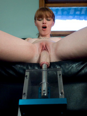 Sex machine xxx. Red head, natural big tits - Unique Bondage - Pic 14
