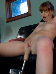 Sex machine xxx. Red head, natural big tits - Unique Bondage - Pic 15