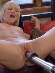 Machines fucking. Hot blonde bound tight to - Unique Bondage - Pic 4