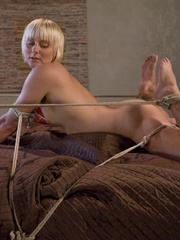 Machines fucking. Hot blonde bound tight to - Unique Bondage - Pic 5