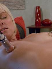 Machines fucking. Hot blonde bound tight to - Unique Bondage - Pic 8