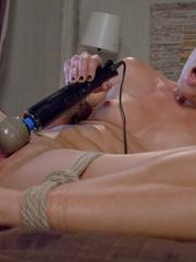 Machines fucking. Hot blonde bound tight to - Unique Bondage - Pic 12