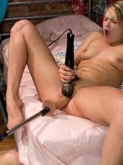 Sex machine sex. Heather dominates her BFF - Unique Bondage - Pic 5