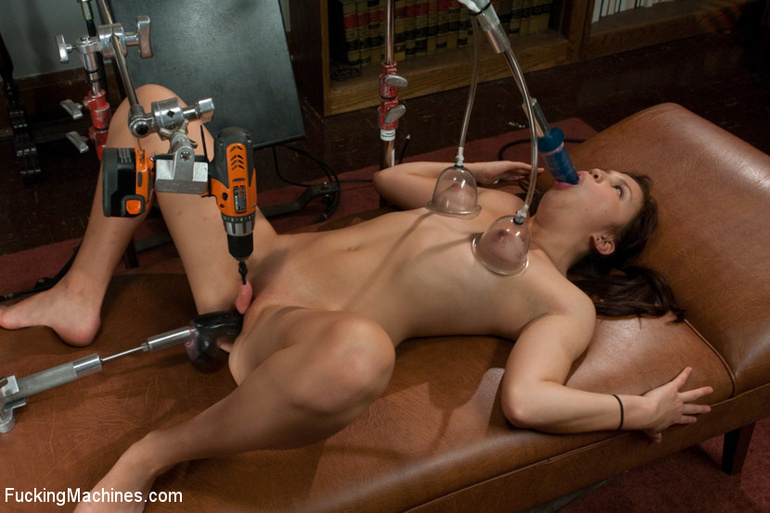 Sex machine porn. 18yr old's FIRST PORN! - Unique Bondage - Pic 2