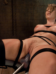 Sex machine porn. Harmony Rose, in her final - Unique Bondage - Pic 6