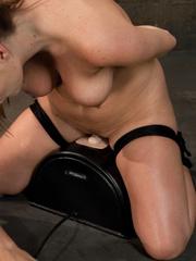 Sex machine porn. Harmony Rose, in her final - Unique Bondage - Pic 10
