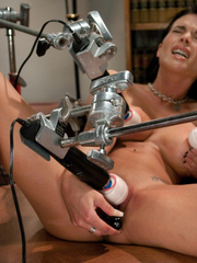 Girls sex machines. Girl spread and pinned - Unique Bondage - Pic 5