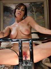 Fuckingmachines. Hot big titted brunette - Unique Bondage - Pic 4