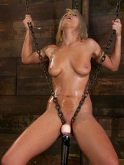 Fucking machines sex. Chains hold back this - Unique Bondage - Pic 5