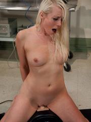 Fucking machine sex. Blond Lorelei Lee and - Unique Bondage - Pic 13