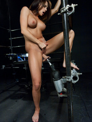 Fucking machines sex. Chanel Preston, Alexa - Unique Bondage - Pic 12
