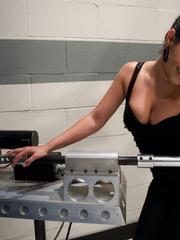 Sex machine. Charley Chase shoots a vibrator - Unique Bondage - Pic 1