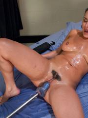 Sex machine. Charley Chase shoots a vibrator - Unique Bondage - Pic 12