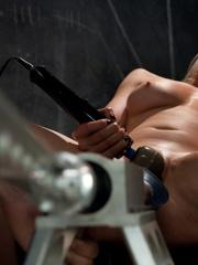 Fuck machines. Blond babe takes big - Unique Bondage - Pic 1