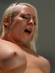 Fuck machines. Blond babe takes big - Unique Bondage - Pic 7