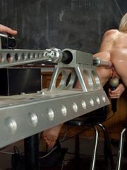 Fuck machines. Blond babe takes big - Unique Bondage - Pic 10