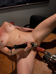 Sexmachines. Smoking hot blond double fucked - Unique Bondage - Pic 12