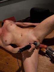 Sexmachines. Smoking hot blond double fucked - Unique Bondage - Pic 13