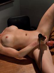 Sexmachines. Smoking hot blond double fucked - Unique Bondage - Pic 14