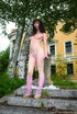 Hairy nude. Follow Anna R outside as she finds a…