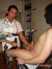 Strap on dildo. Nurse StrapOn Jane gives her - Unique Bondage - Pic 6