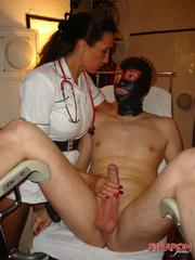 Strap on dildo. Nurse StrapOn Jane gives her - Unique Bondage - Pic 9