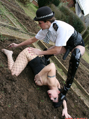 Femdom porn. Police woman Jane catches this - Unique Bondage - Pic 5