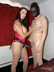 Femdom porn. Strapon Jane fucking gimp - Unique Bondage - Pic 1