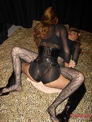 Femdom spanking. Strapon jane fucks Tgirls - Unique Bondage - Pic 15