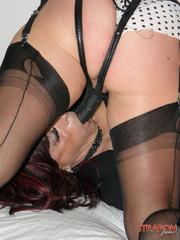 Slave porn. Crossdressing slut gets mouth - Unique Bondage - Pic 4